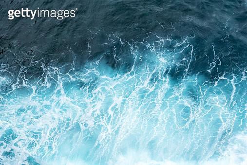 Aerial View of Ocean Waves - gettyimageskorea