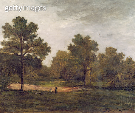 <b>Title</b> : Landscape (oil on canvas)<br><b>Medium</b> : oil on canvas<br><b>Location</b> : Musee des Beaux-Arts, Orleans, France<br> - gettyimageskorea