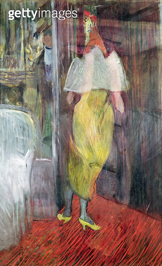 <b>Title</b> : Woman Entering a Box at the Theatre, 1894 (oil on canvas)Additional InfoFemme en Toilette de Bal a l'Entree d'une Loge de Theatr<br><b>Medium</b> : oil on canvas<br><b>Location</b> : Musee Toulouse-Lautrec, Albi, France<br> - gettyimageskorea
