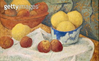 <b>Title</b> : Apples with a Blue Dish, 1922 (oil on canvas)<br><b>Medium</b> : oil on canvas<br><b>Location</b> : Musee Toulouse-Lautrec, Albi, France<br> - gettyimageskorea