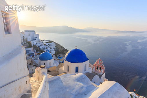 Greece, Cyclades, Firostefani and Santorini Caldera - gettyimageskorea