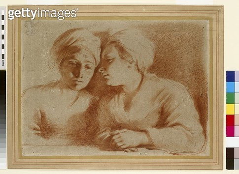 <b>Title</b> : Two Women in Conversation (red chalk on paper)<br><b>Medium</b> : red chalk on paper<br><b>Location</b> : Ashmolean Museum, University of Oxford, UK<br> - gettyimageskorea
