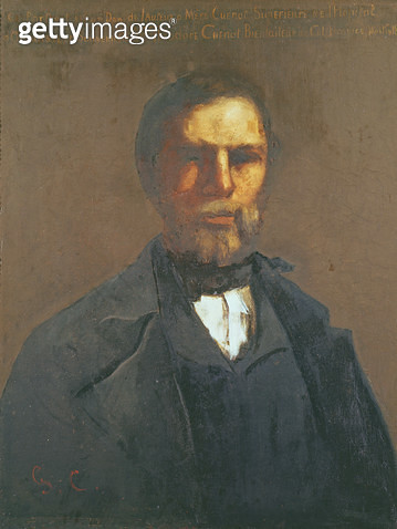 <b>Title</b> : Portrait of Theodore Cuenot, 1847 (oil on canvas)Additional Infobrother of Urbain, childhood friend of the painter;<br><b>Medium</b> : oil on canvas<br><b>Location</b> : Musee-Maison Natale Gustave Courbet, Ornans, France<br> - gettyimageskorea