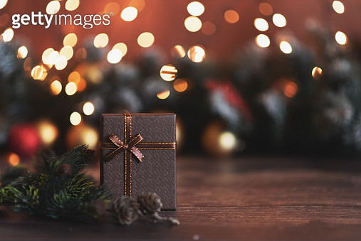 Merry Christmas and Happy Holidays. Baubles, presents, candy with christmas ornaments. Top view. Christmas family traditions. - gettyimageskorea