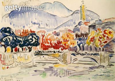 <b>Title</b> : Le Paillon, Nice, 1921 (pencil & w/c on paper)<br><b>Medium</b> : pencil and watercolour on paper<br><b>Location</b> : Musee des Beaux-Arts et d'Archeologie, Besancon, France<br> - gettyimageskorea