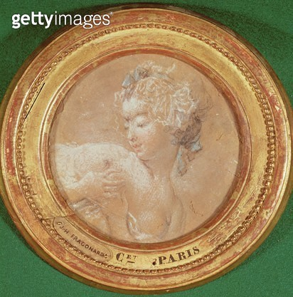 <b>Title</b> : Young Girl Squeezing her Breast (pastel on paper)Additional InfoJeune Fille se Pressant le Sein;<br><b>Medium</b> : pastel on paper<br><b>Location</b> : Musee des Beaux-Arts et d'Archeologie, Besancon, France<br> - gettyimageskorea