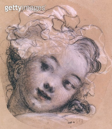 <b>Title</b> : Portrait presumed to be Rosalie, daughter of the artist (charcoal & chalk on paper)<br><b>Medium</b> : charcoal and chalk on paper<br><b>Location</b> : Musee des Beaux-Arts et d'Archeologie, Besancon, France<br> - gettyimageskorea