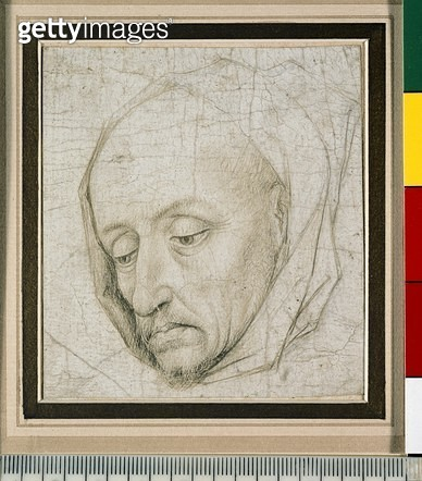<b>Title</b> : Study of the head of an old man (silverpoint on paper)<br><b>Medium</b> : silverpoint on paper<br><b>Location</b> : Ashmolean Museum, University of Oxford, UK<br> - gettyimageskorea