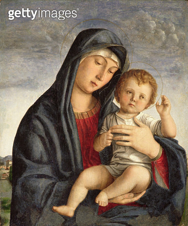 <b>Title</b> : Madonna and Child (oil on panel)<br><b>Medium</b> : <br><b>Location</b> : Museo Civico, Treviso, Italy<br> - gettyimageskorea