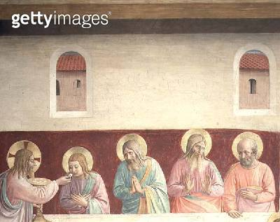 <b>Title</b> : Detail from The Last Supper, 1442 (fresco)<br><b>Medium</b> : fresco<br><b>Location</b> : Museo di San Marco dell'Angelico, Florence, Italy<br> - gettyimageskorea
