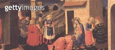 <b>Title</b> : Predella panel to the Annunciation showing the Adoration of the Magi<br><b>Medium</b> : tempera on panel<br><b>Location</b> : Museo Diocesano, Cortona, italy<br> - gettyimageskorea