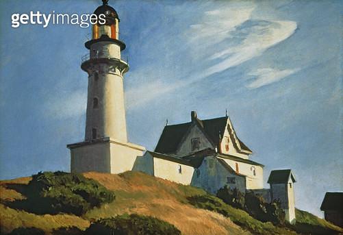 <b>Title</b> : Lighthouse at Two Lights, 1929 (oil on canvas)<br><b>Medium</b> : oil on canvas<br><b>Location</b> : Metropolitan Museum of Art, New York, USA<br> - gettyimageskorea