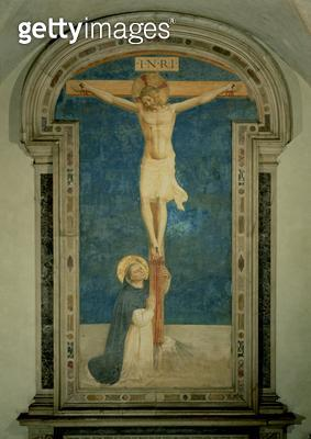 Christ on the Cross Adored by St. Dominic - gettyimageskorea