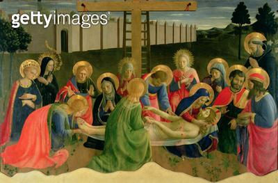 <b>Title</b> : Lamentation over the Dead Christ, 1436-41 (tempera on panel)Additional InfoLamentation of the Dead Christ;<br><b>Medium</b> : tempera on panel<br><b>Location</b> : Museo di San Marco dell'Angelico, Florence, Italy<br> - gettyimageskorea