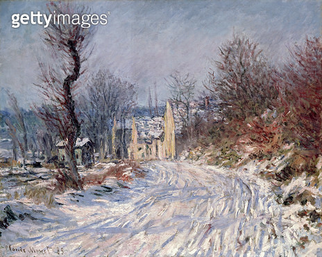 <b>Title</b> : The Road to Giverny, Winter, 1885<br><b>Medium</b> : oil on canvas<br><b>Location</b> : Private Collection<br> - gettyimageskorea
