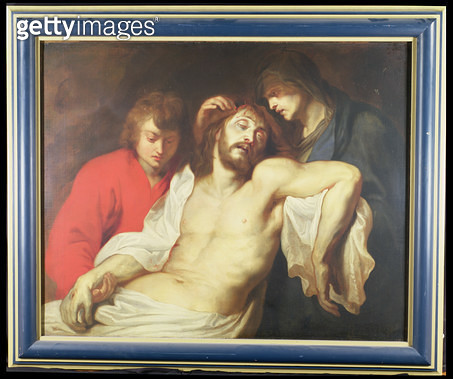 <b>Title</b> : The Lamentation over the Dead Christ with the Virgin and St. John (oil on canvas)<br><b>Medium</b> : <br><b>Location</b> : Hatton Gallery, University of Newcastle Upon Tyne, UK<br> - gettyimageskorea
