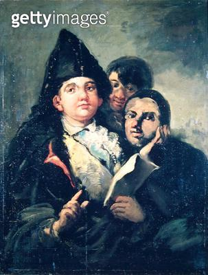 <b>Title</b> : Manolito Guasquez and the Fool of Coria (oil on canvas)<br><b>Medium</b> : oil on canvas<br><b>Location</b> : Musee Bonnat, Bayonne, France<br> - gettyimageskorea