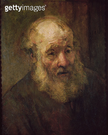 <b>Title</b> : Head of an Old Man, c.1650 (oil on canvas)<br><b>Medium</b> : oil on canvas<br><b>Location</b> : Musee Bonnat, Bayonne, France<br> - gettyimageskorea