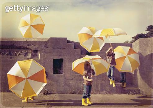 The Magic Umbrella. - gettyimageskorea