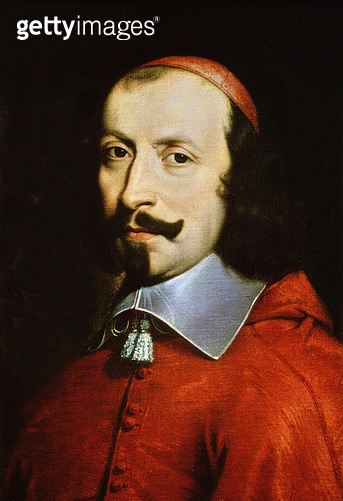<b>Title</b> : Cardinal Jules Mazarin (1602-61) (oil on canvas) (detail of 191470)<br><b>Medium</b> : <br><b>Location</b> : Musee Conde, Chantilly, France<br> - gettyimageskorea