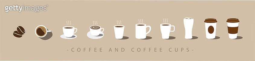 Set of Coffee and coffee cup icons. vector - gettyimageskorea