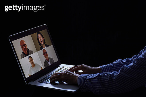 Business people on video conference - gettyimageskorea