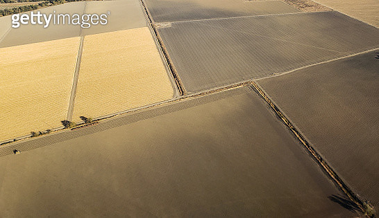 Aerial view outside of Sacramento, California - gettyimageskorea