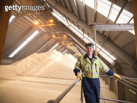 Worker at gypsum facility - gettyimageskorea