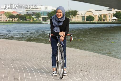 An ethnic Malay Muslim woman in Hijab - gettyimageskorea