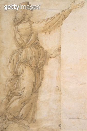 Study of an Angel (drawing) - gettyimageskorea