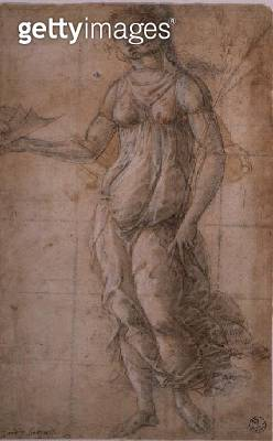 <b>Title</b> : Study of Athene (drawing)<br><b>Medium</b> : <br><b>Location</b> : Galleria degli Uffizi, Florence, Italy<br> - gettyimageskorea