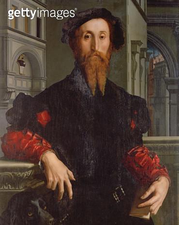 <b>Title</b> : Portrait of Signor Panciatichi Bartolomeo, c.1540 (oil on panel)<br><b>Medium</b> : oil on panel<br><b>Location</b> : Galleria degli Uffizi, Florence, Italy<br> - gettyimageskorea
