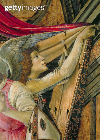 <b>Title</b> : Detail of Angels from the Altarpiece of San Barnaba<br><b>Medium</b> : <br><b>Location</b> : Galleria degli Uffizi, Florence, Italy<br> - gettyimageskorea