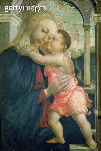 <b>Title</b> : Madonna of the Loggia, 1467-70 (oil on panel)<br><b>Medium</b> : oil on panel<br><b>Location</b> : Galleria degli Uffizi, Florence, Italy<br> - gettyimageskorea