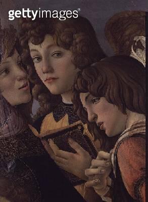 <b>Title</b> : Angels from the Madonna della Melagrana (detail of 44340)<br><b>Medium</b> : <br><b>Location</b> : Galleria degli Uffizi, Florence, Italy<br> - gettyimageskorea