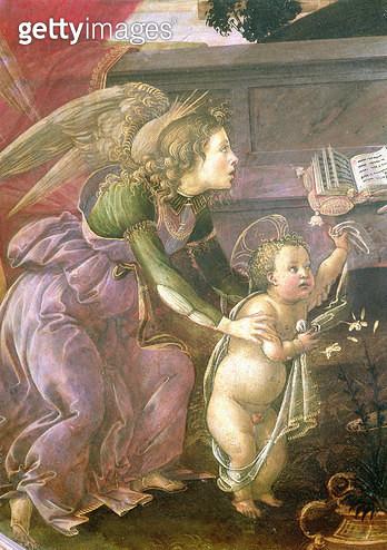 <b>Title</b> : Detail from the Madonna del Padiglione<br><b>Medium</b> : <br><b>Location</b> : Museo Poldi Pezzoli, Milan, Italy<br> - gettyimageskorea