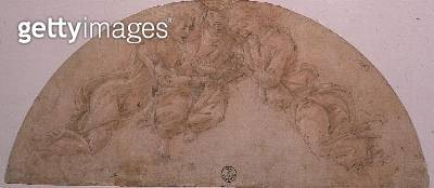 Study of Three Angels (drawing) - gettyimageskorea