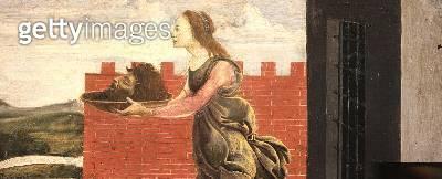 Salome with the Head of Saint John the Baptist (tempera on panel) - gettyimageskorea