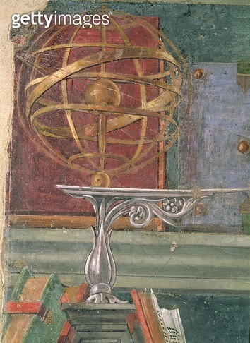 <b>Title</b> : Detail from St.Augustine in his study showing an armillary sphere (see also 44371)<br><b>Medium</b> : <br><b>Location</b> : <br> - gettyimageskorea