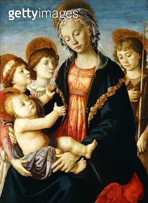 <b>Title</b> : The Virgin and Child with Two Angels and St. John the Baptist, c.1470 (oil on panel)<br><b>Medium</b> : oil on panel<br><b>Location</b> : Galleria dell' Accademia, Florence, Italy<br> - gettyimageskorea
