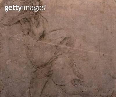 <b>Title</b> : Study of a Man (pencil on paper)<br><b>Medium</b> : pencil on paper<br><b>Location</b> : Galleria degli Uffizi, Florence, Italy<br> - gettyimageskorea