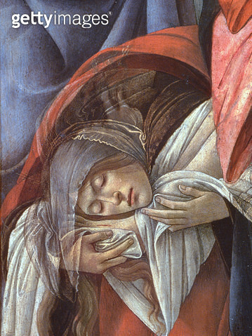 <b>Title</b> : Lamentation over the Dead Christ, detail of Mary Magdalene, 1490-1500 (detail of 44244)<br><b>Medium</b> : oil on canvas<br><b>Location</b> : Museo Poldi Pezzoli, Milan, Italy<br> - gettyimageskorea