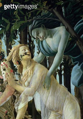 Primavera: Detail of Zephyr and Flora (tempera on panel) - gettyimageskorea
