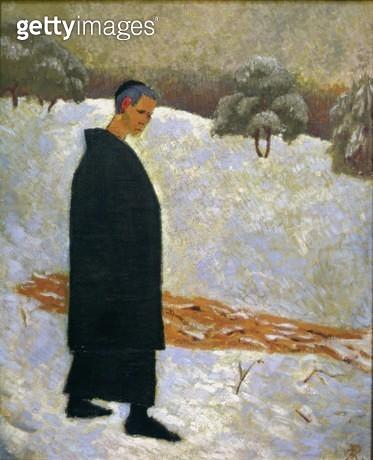 <b>Title</b> : Portrait of Jan Verkade (1868-1946) at Beuron (oil on canvas)<br><b>Medium</b> : <br><b>Location</b> : Musee du Prieure, St.Germain-en-Laye, Paris, France<br> - gettyimageskorea