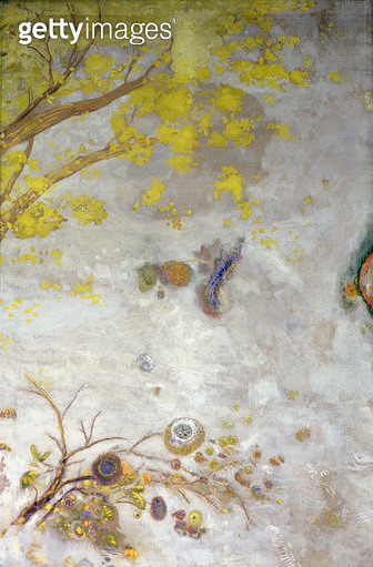 <b>Title</b> : Yellow Flowering Branch, part of a screen, 1901 (oil on canvas)Additional InfoLa Branche Fleurie Jaune;<br><b>Medium</b> : oil, tempera and pastel on canvas<br><b>Location</b> : Musee d'Orsay, Paris, France<br> - gettyimageskorea
