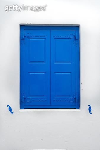 Blue Window of Mykonos - gettyimageskorea