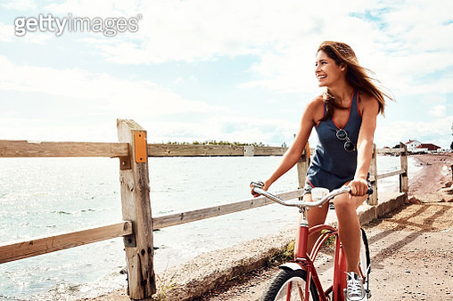 Bike rides are splendid by the sea - gettyimageskorea