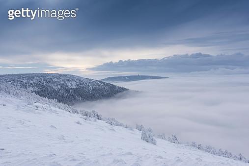 Sunrise in a mountain winter landscape - gettyimageskorea