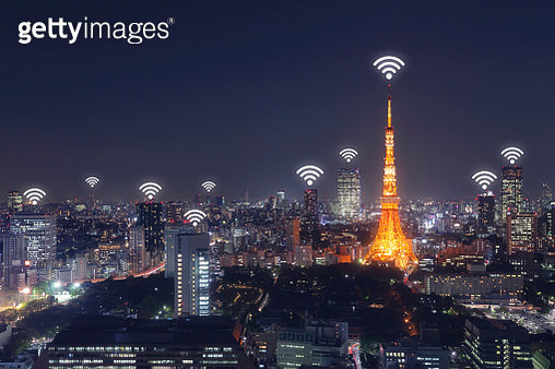 Wireless communication network in Big city - gettyimageskorea