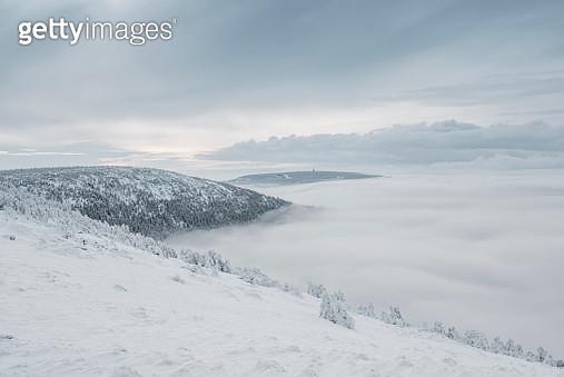 Mountain winter landscape - gettyimageskorea